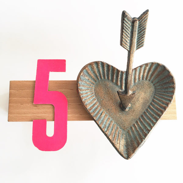 Metal Heart & Arrow Dish