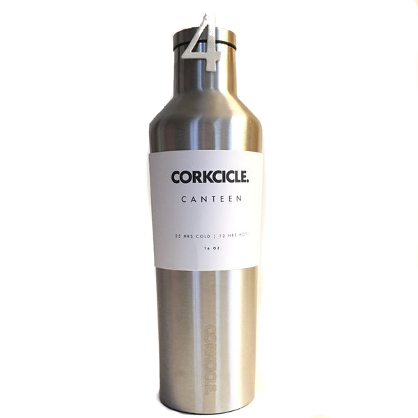 Brushed Steel, 16oz Corkcicle Canteen