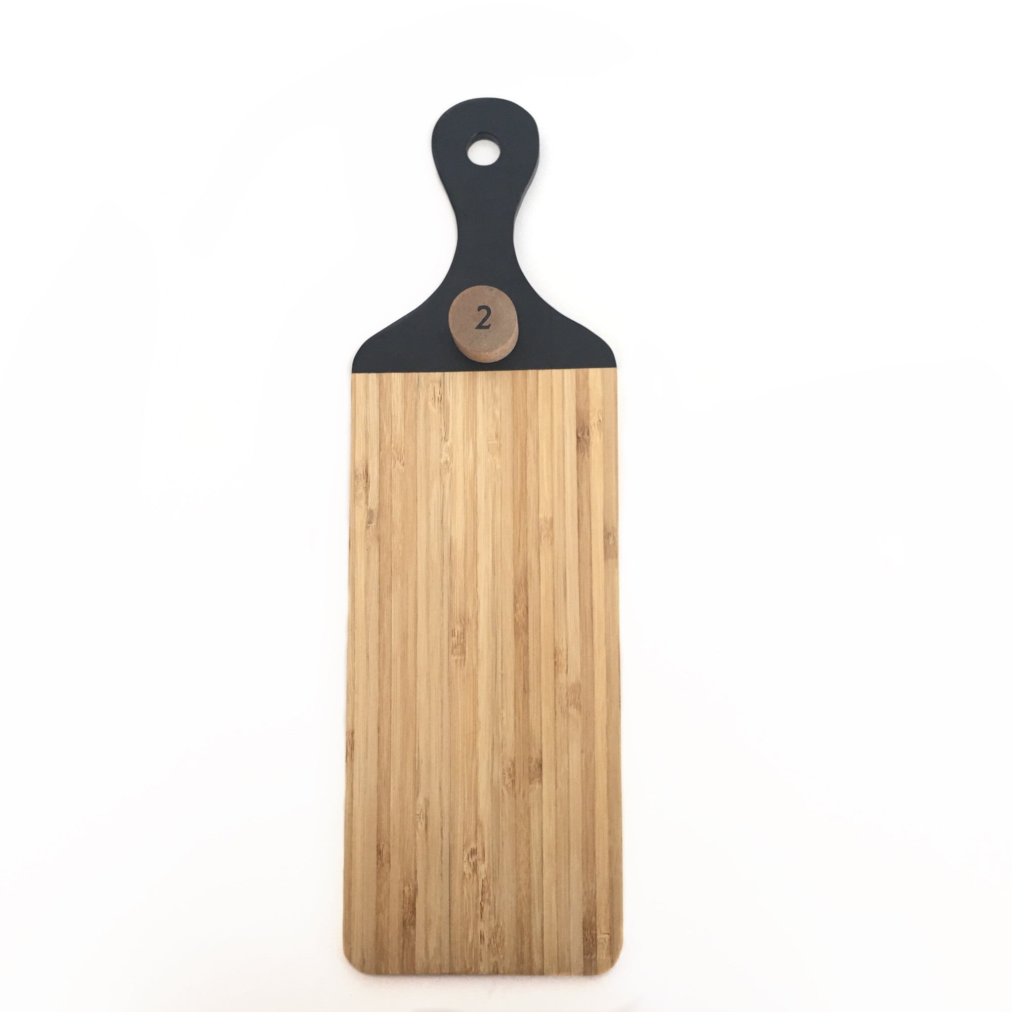 Black Handled Bamboo Cutting Board