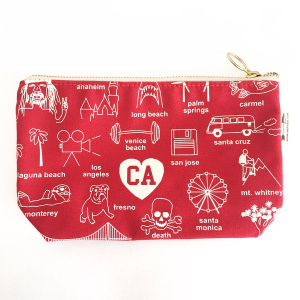 California Zipped Pouch