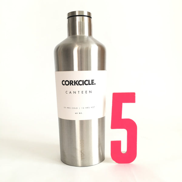 Brushed Steel 60oz Corkcicle Canteen