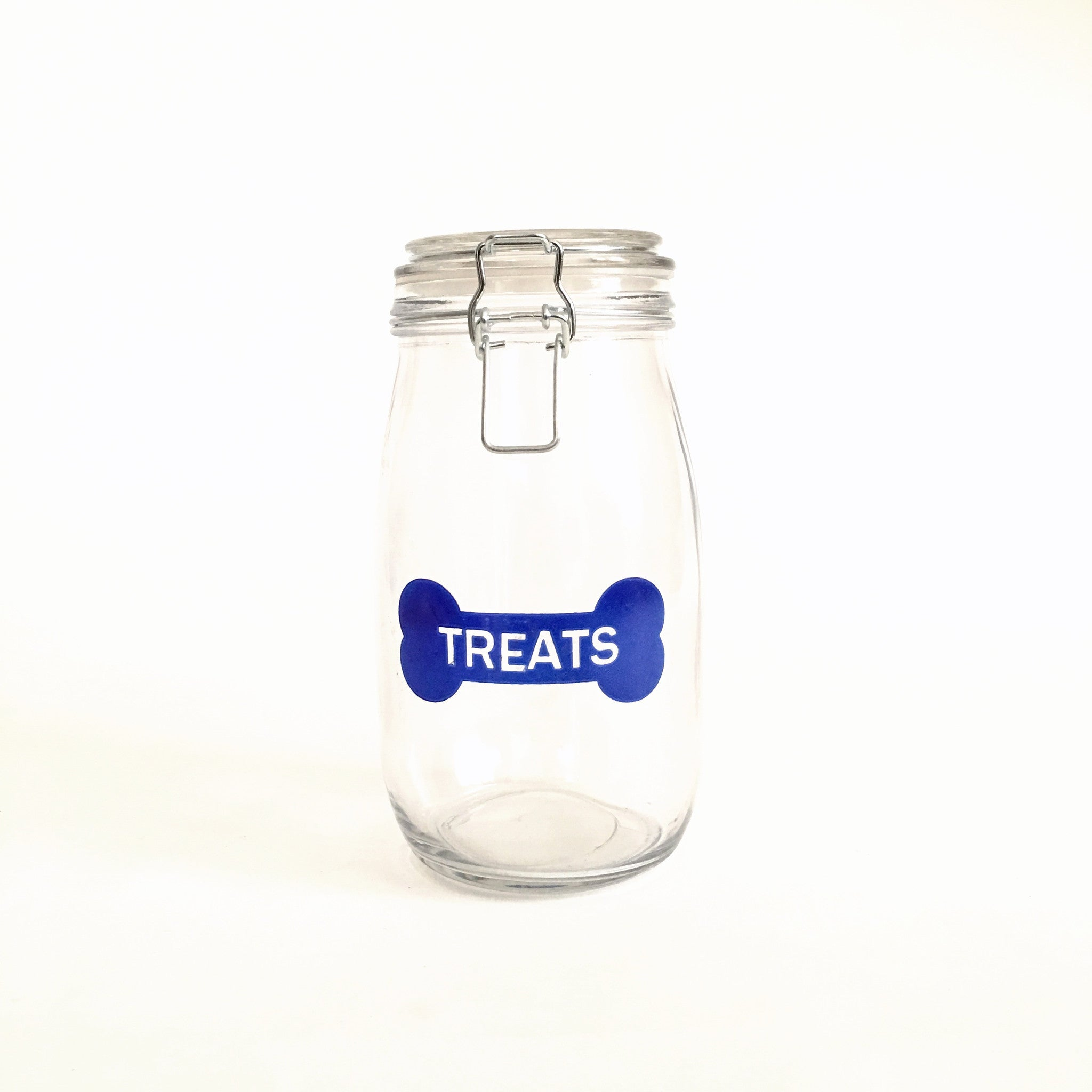Glass Treats Jar