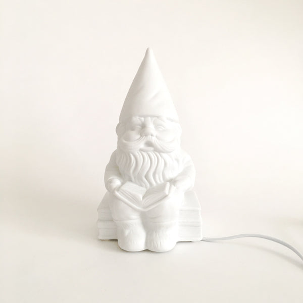 Porcelain Gnome Lamp