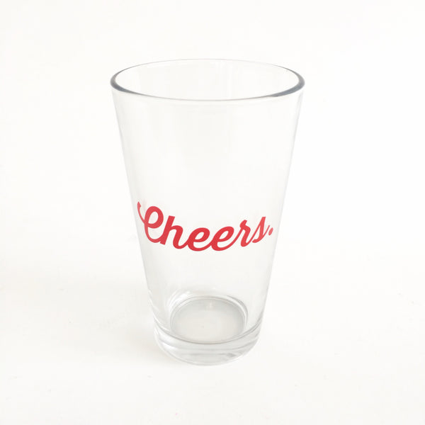 Cheers Pint Glass