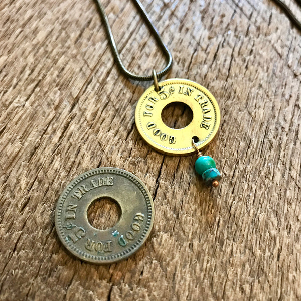 Antique Trade Coin Necklace Item# 1800-5