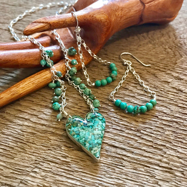 Sterling Silver and Turquoise Earrings Item# E2100-2