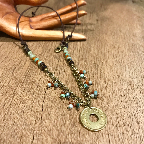 Antique Trade Coin Necklace Item# N3900-1