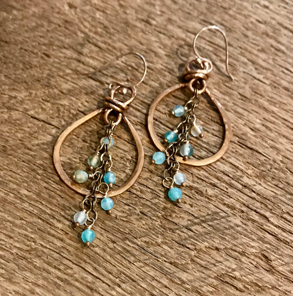 Bronze Rain Chain Earrings Item# E2100-4