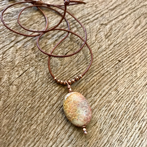 Fossil Coral Necklace Item# N2000-8