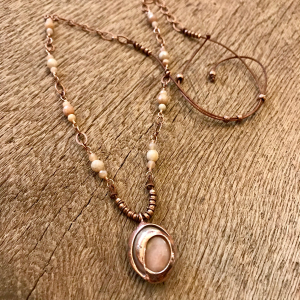 Pink Opal Necklace Item# N5900-2