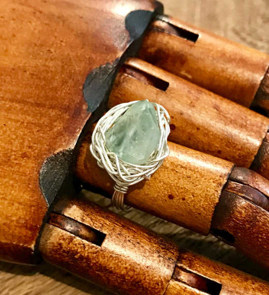 Aquamarine and Sterling Silver Nest Ring Item# R1800-2