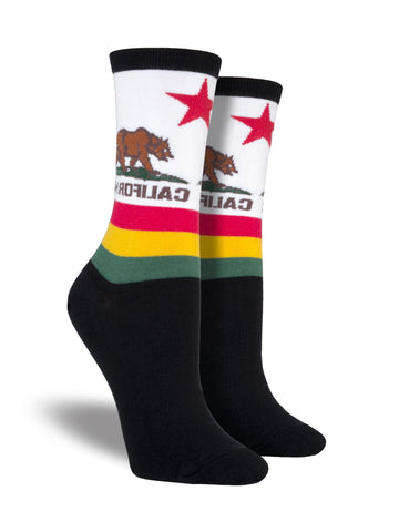 California Flag Crew Socks