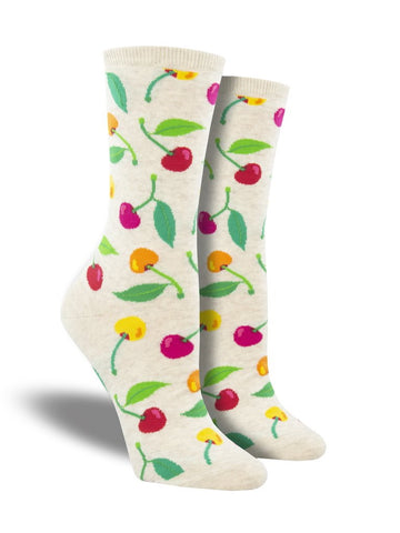 Cherries Crew Socks