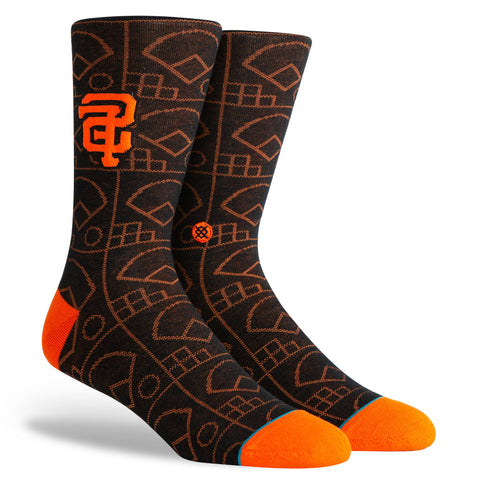 Giants Scorebook Crew Socks