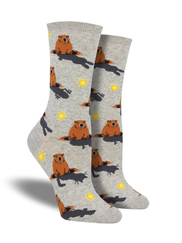 Groundhog Day Crew Socks