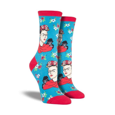 Kahlo Portrait Crew Socks