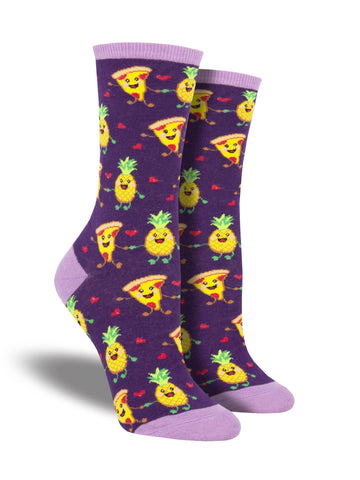 Pizza Pineapple Crew Socks