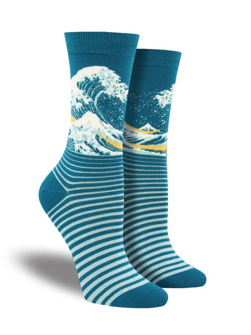 The Wave (Bamboo) Crew Socks