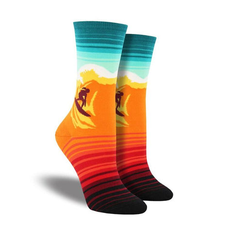 Catch A Wave Crew Socks