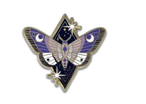 Lunar Messenger Moth Pin