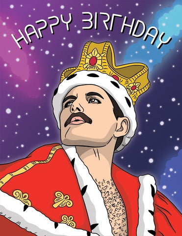 Freddy Mercury Birthday Card