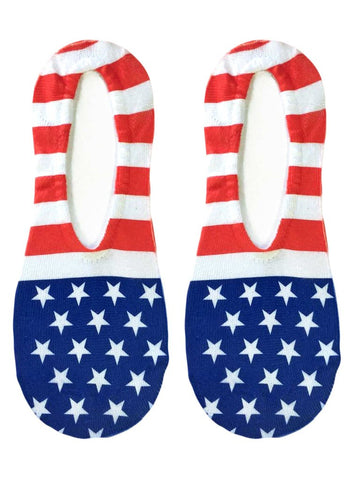 Stars and Stripes No-Show Socks