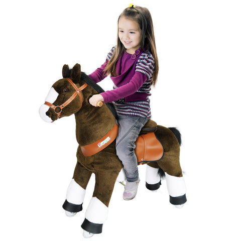Vroom Rider x PonyCycle VR-N3152 Ride-On Chocolate Brown Horse for 3-5 Years Old - Small