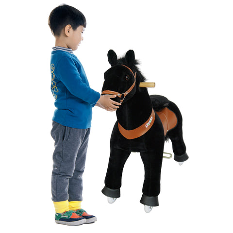 Vroom Rider x PonyCycle VR-N4183 Ride-On Black Horse for 4-9 Years Old - Medium