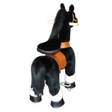 Vroom Rider x PonyCycle VR-N4184 Ride-On Black Horse w/ White Hoof for 4-9 Years Old - Medium