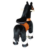 PonyCycle x Vroom Rider VR-N3184 Black Horse w/ White Hoof for 3-5 Years Old