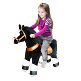 Vroom Rider x PonyCycle VR-N3184 Ride-On Black Horse w/ White Hoof for 3-5 Years Old - Small