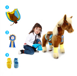 PonyCycle x Vroom Rider VR-K42 Brown Horse for 4-9 Years Old
