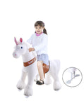 Vroom Rider x PonyCycle VR-U404 U-Series Ride-On White Unicorn for 4-8 Years Old - Medium