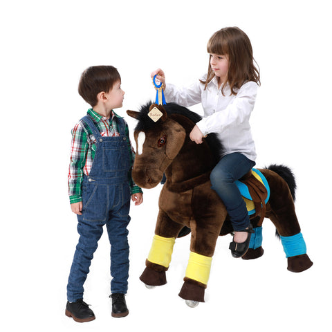 PonyCycle x Vroom Rider VR-K45 Dark Horse for 4-9 Years Old