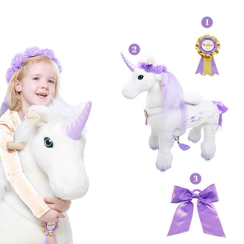 PonyCycle x Vroom Rider VR-K41 Unicorn for 4-9 Years Old