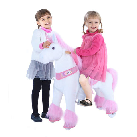 Vroom Rider x PonyCycle VR-U402 U-Series Ride-On Pink Unicorn for 4-8 Years Old - Medium