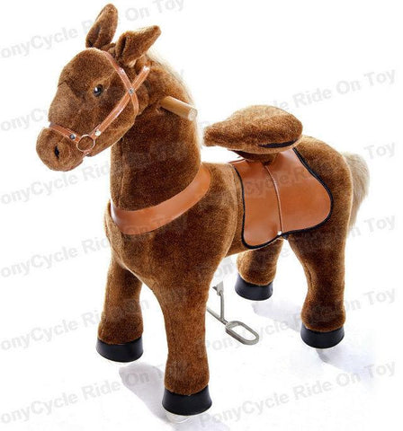 Vroom Rider x PonyCycle VR-N4121 Ride-On Brown Horse for 4-9 Years Old - Medium