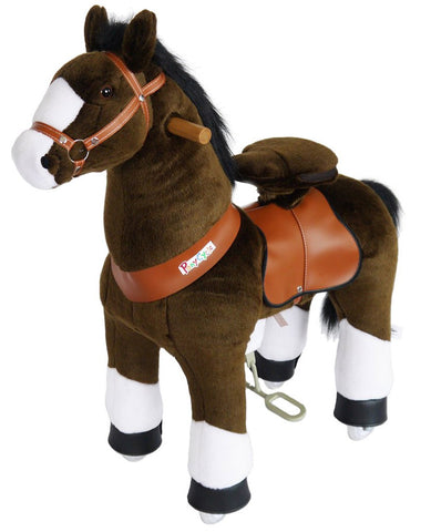 PonyCycle x Vroom Rider VR-N3152 Chocolate Brown Horse for 3-5 Years Old