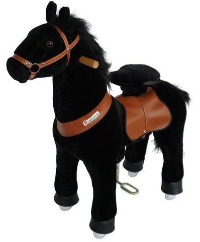 PonyCycle x Vroom Rider VR-N3183 Black Horse for 3-5 Years Old