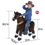 Vroom Rider x PonyCycle VR-U424 U-Series Ride-On Horse for 4-8 Years Old - Medium (Brown)