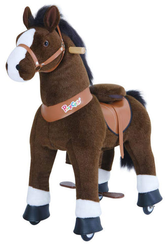 PonyCycle x Vroom Rider VR-U321 U-Series Dark Brown Horse for 3-5 Years Old