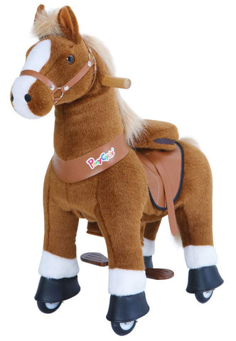PonyCycle x Vroom Rider VR-U324 U-Series Brown Horse for 3-5 Years Old