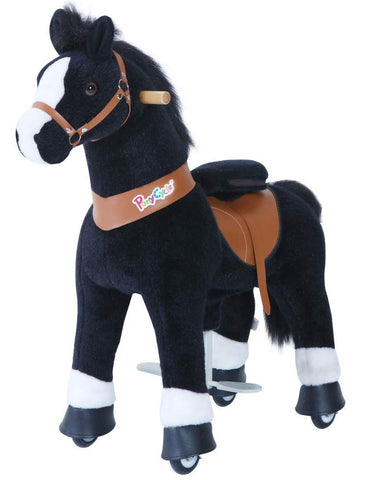PonyCycle x Vroom Rider VR-U326 U-Series Black Horse for 3-5 Years Old