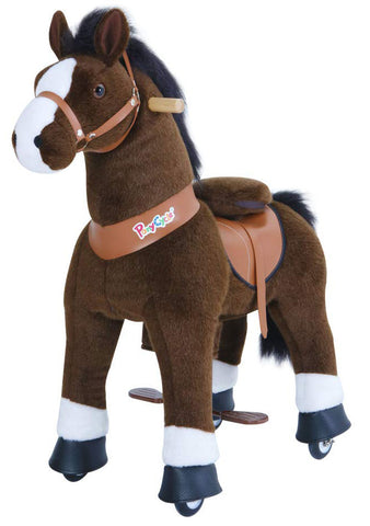 PonyCycle x Vroom Rider VR-U421 U-Series Dark Brown Horse for 4-8 Years Old