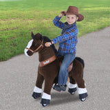 Vroom Rider x PonyCycle VR-U421 U-Series Ride-On Dark Brown Horse for 4-8 Years Old - Medium