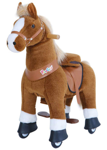 PonyCycle x Vroom Rider VR-U424 U-Series Brown Horse for 4-8 Years Old