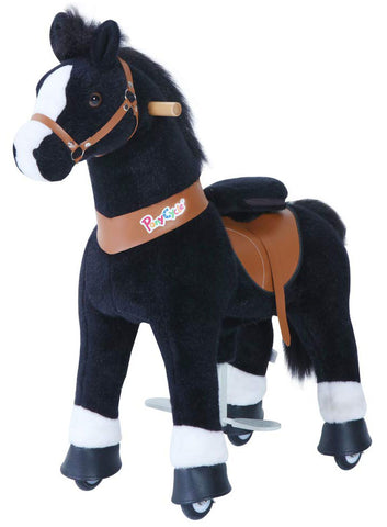 PonyCycle x Vroom Rider VR-U426 U-Series Black Horse for 4-8 Years Old