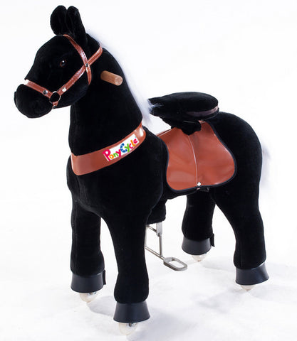 PonyCycle x Vroom Rider VR-N4181 Black Horse for 4-9 Years Old