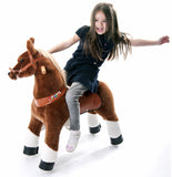 PonyCycle x Vroom Rider VR-N3151 Dark Brown Horse for 3-5 Years Old
