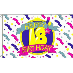 Happy Birthday Flag - 18